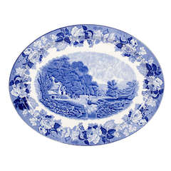 Blue and White Serving Platter by Wood & Sons