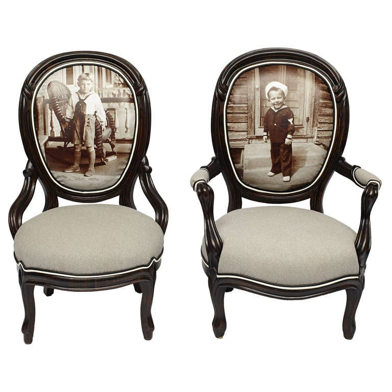 Pair Of Victorian Sailor Boy Giclee Parlor Chairs For At. Antique Parlor  Chairs - Antique Parlor Chair Styles - Chair Design Ideas