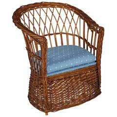 19th Century Wicker Children's Chair