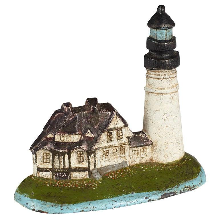Cast Iron Portland Head Lighthouse Doorstop At 1stdibs