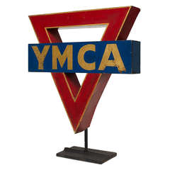 American YMCA Metal Sign