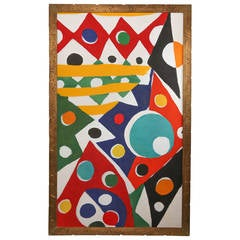 "Kim Robert MacConnel, Large Acrylic on Canvas ""Colonia Libertad"""