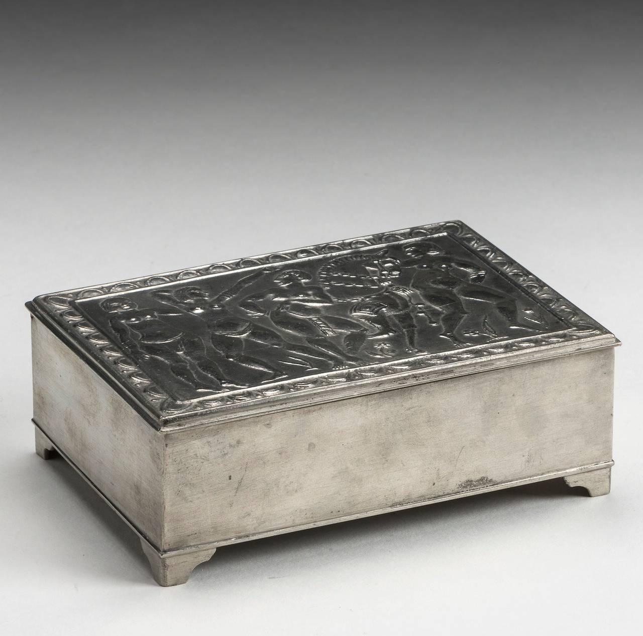 Estrid Ericson Svenskt Tenn Pewter Box With Lid, Sweden 1928 2