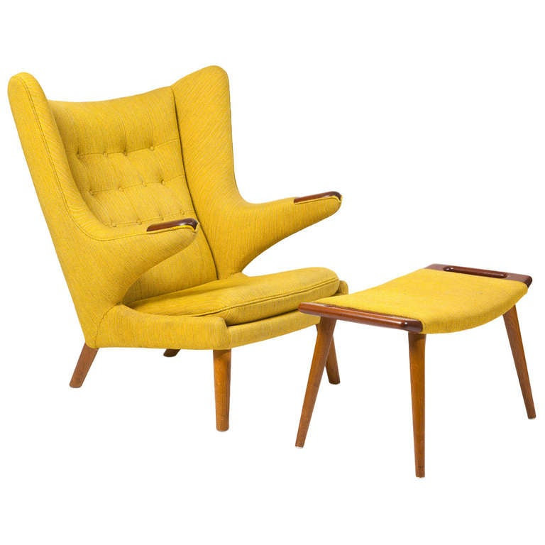 Armchair Quot Papa Bear Quot With Footstool By Hans J Wegner At