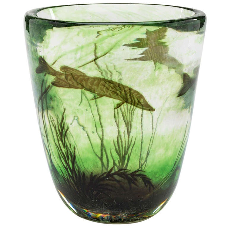 Fish Graal vase by Edward Hald