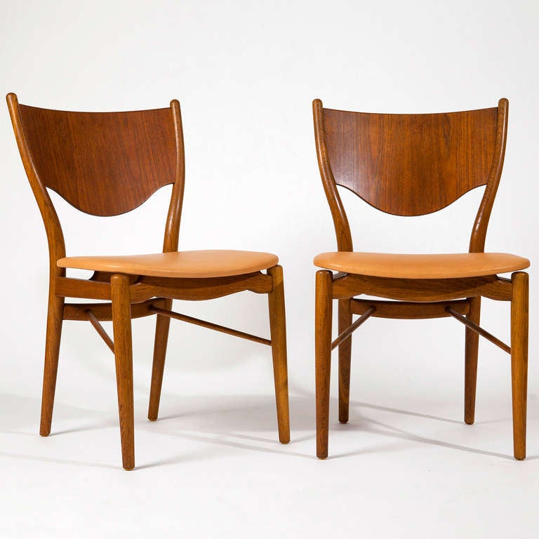 Finn Juhl, pair of chairs BO-46 2