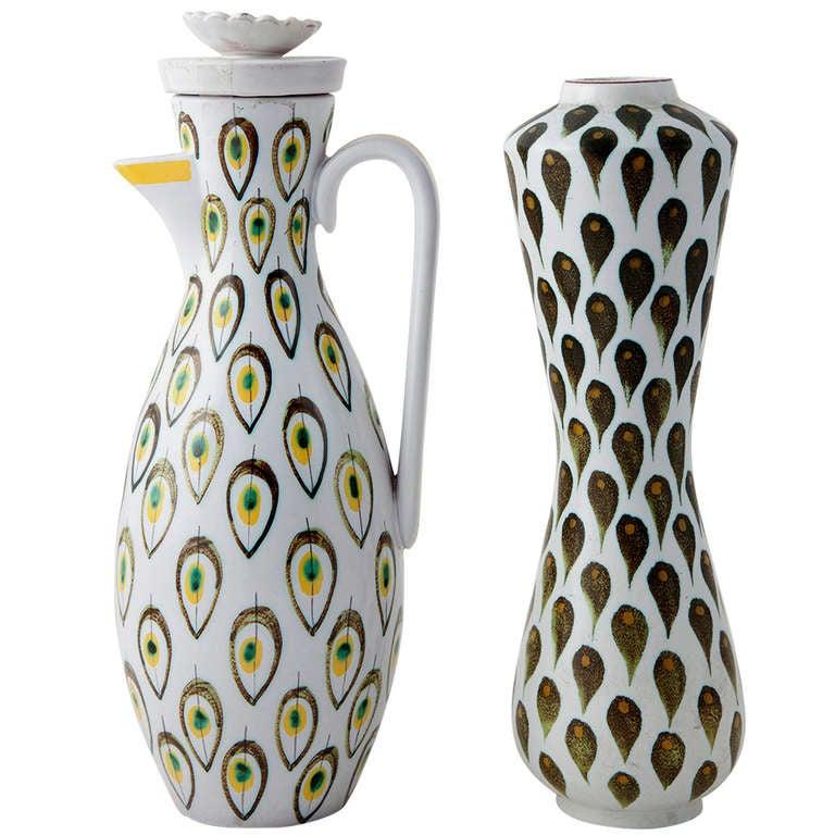 Stig Lindberg Vase and Jug