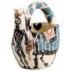 Picasso Ceramic Pitcher - Cavalier and Horse