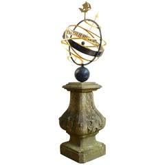 18th Century Armillary Sundial