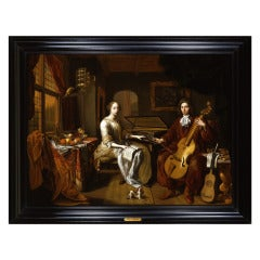HERMANNUS COLLENIUS - A Portrait of an Elegant Couple Making Music