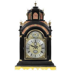 Exceptionally Large Dutch Table Clock by Andries Vermeulen
