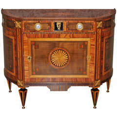 A very fine Dutch Lous XVI demi-lune commode