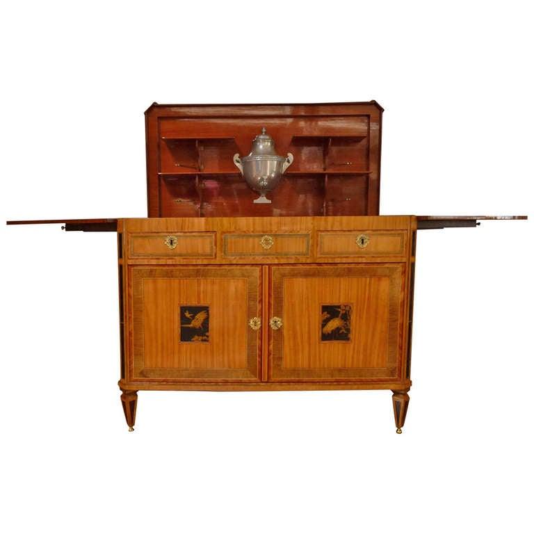 "A fine Dutch Louis XVI sideboard or ""klapbuffet"" 1"