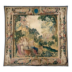 An early 17th century tapestry with a scene of Diana and Orion