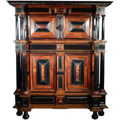 A Rare Dutch 17th Century Cabinet
