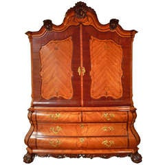A beautiful Dutch Louis XV cabinet