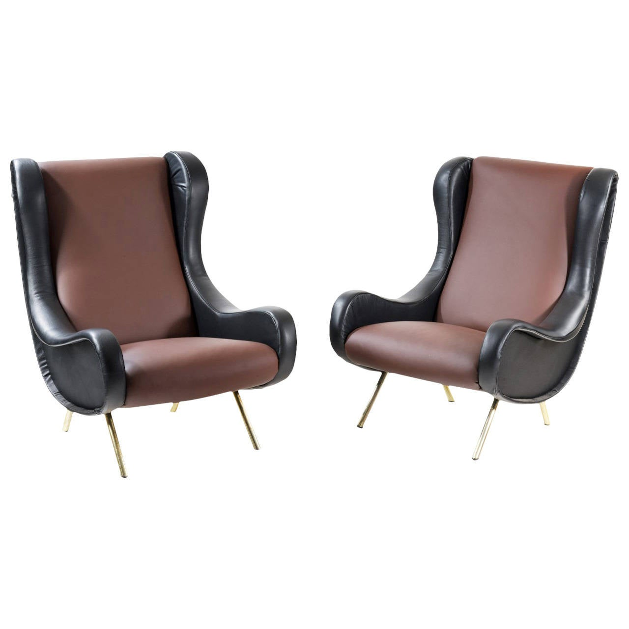 Pair of Armchairs, Model 'Senior' by Marco Zanuso 1