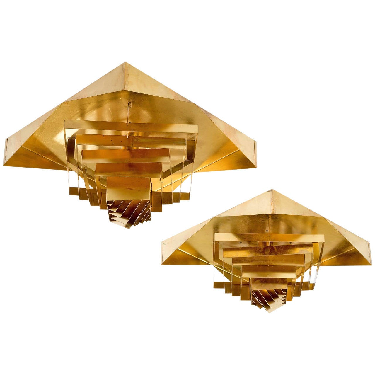 Pair of Plafonnier Lamps by Hans Agne Jakobsson For Sale