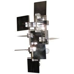 Mid Century Modern chrome wallight by Sciolari, Italy