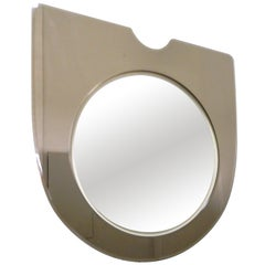 Simple Minimalist Italian Mirror with Bronze Glass Frame
