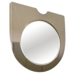 Simple Minimalist Italian Mirror with Bronze Glass Frame