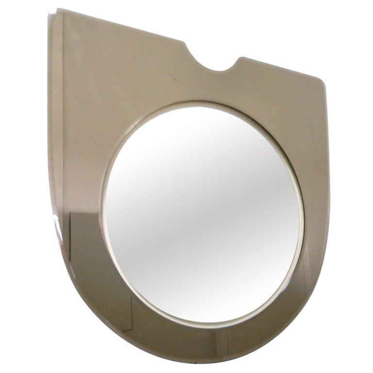 Simple Minimalist Italian Mirror with Bronze Glass Frame For Sale
