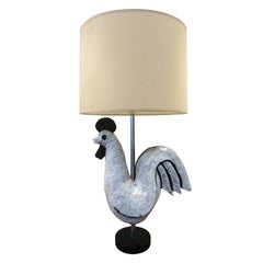 Mid-Century Modern French Ceramic Table Lamp