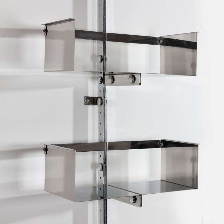 A Chromed Steel Library Unit Designed by Vittorio Introini 3