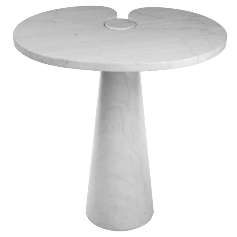 Side table in carrera marble by angelo mangiarotti at 1stdibs for Table carrera