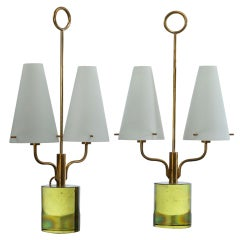 Pair of Table Lamps by Roberto Giulio Rida