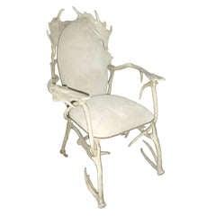 Arthur Court  'faux antler' aluminium armchair