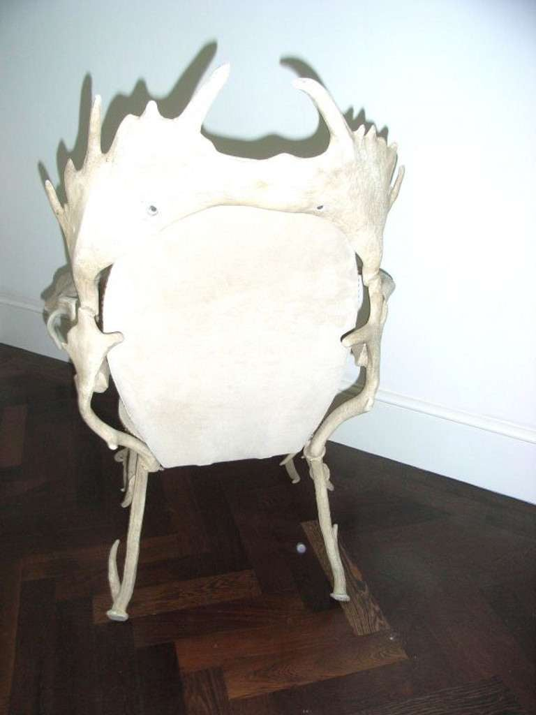 Arthur Court  'faux antler' aluminium armchair In Excellent Condition For Sale In London, GB