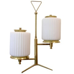 Brass And Glass Table Lamp By Arteluce
