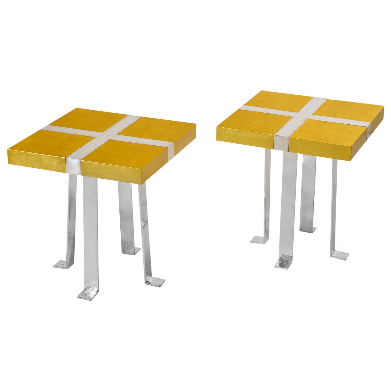 Pair of Side Tables by Garouste and Bonetti
