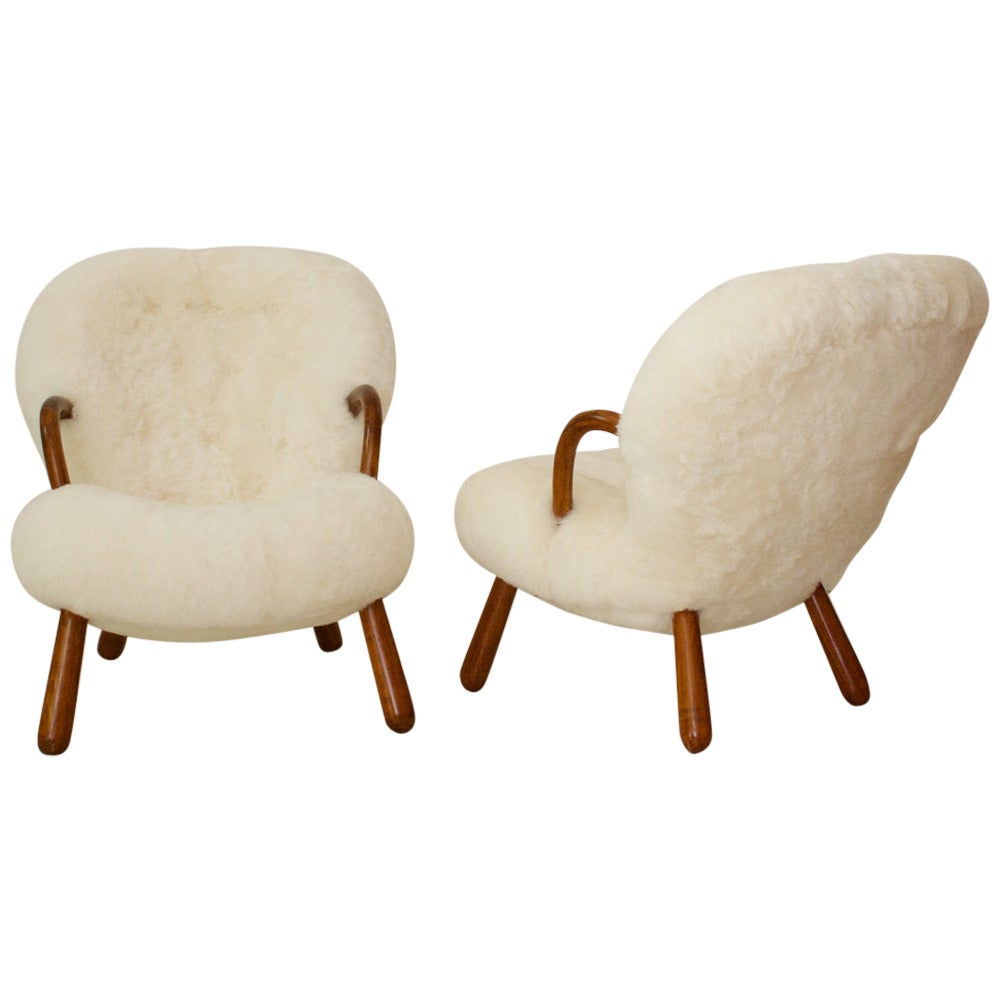 Pair of Armchairs by Philip Arctander For Sale