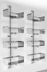 A Chromed Steel Library Unit Designed by Vittorio Introini image 2
