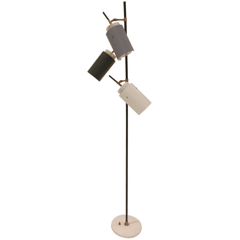 Articulated Floor Lamp Attributed to Stilnovo