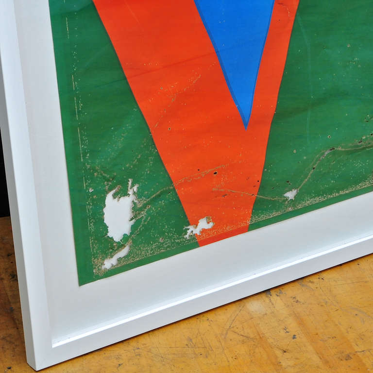Mid-Century Modern 1970s Robert Indiana LOVE Serigraph Decay Modernist Pop Art Warhol Trilove NYC