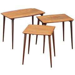 Hovmand Olsen for Mogens Kold Teak Nesting Tables, Set of Three