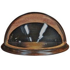 1910s Bespoke Boutique Haberdashery Bow Tie Hemispheric Glass Store Display Case