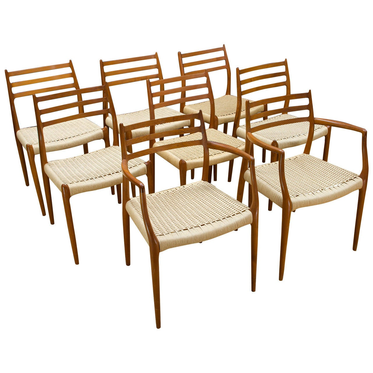 Niels O Moller Teak Armchairs Dining Chairs M Llers At 1stdibs