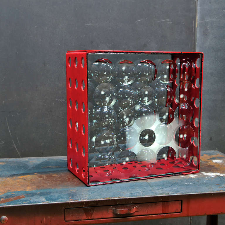 Modern Feliciano Bejar Caja De Jano Bubble Box Magicsope Refraction Sculpture Op Art For Sale
