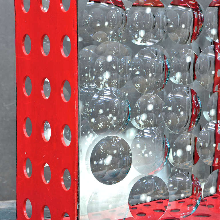 20th Century Feliciano Bejar Caja De Jano Bubble Box Magicsope Refraction Sculpture Op Art For Sale