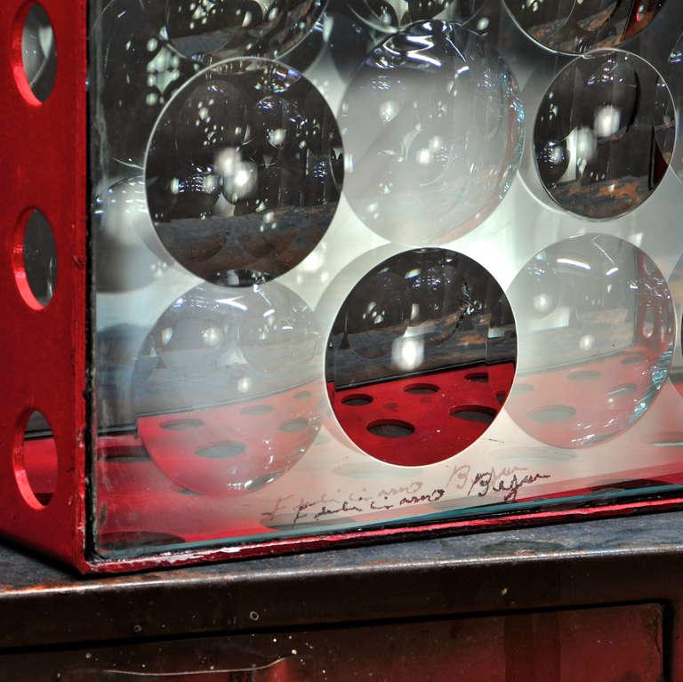 Aluminum Feliciano Bejar Caja De Jano Bubble Box Magicsope Refraction Sculpture Op Art For Sale