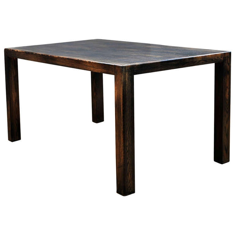oak block brutalist minimalist rustic dining table at 1stdibs