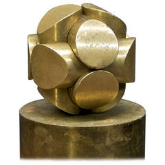 Charles O. Perry Brass Mathematic Puzzle Sculpture