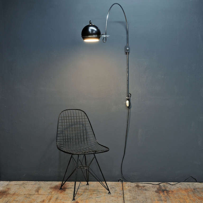 Wall Mounted Arc Lamp : 1960s Gepo Dutch Wall Mount Arc Eyeball Lamp at 1stdibs