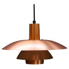 Vintage Poul Henningsen Copper Plate PH4 Pendant Lamp