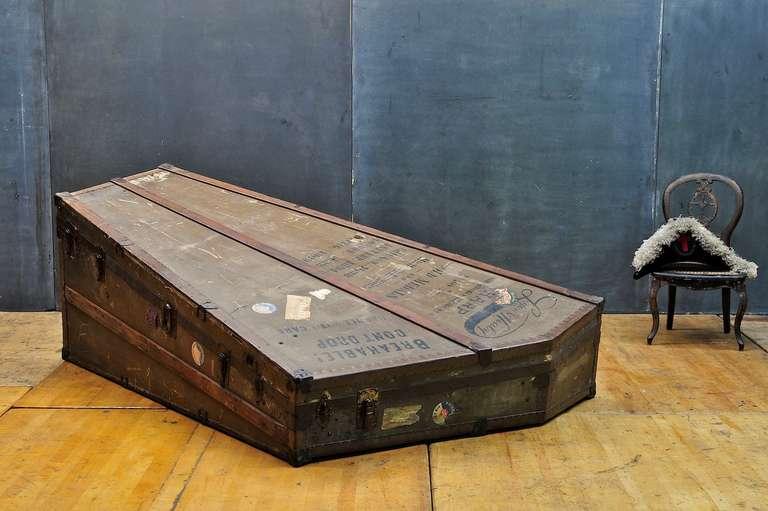 Monumental Victorian Lyon Harp Steamer Trunk Case At 1stdibs