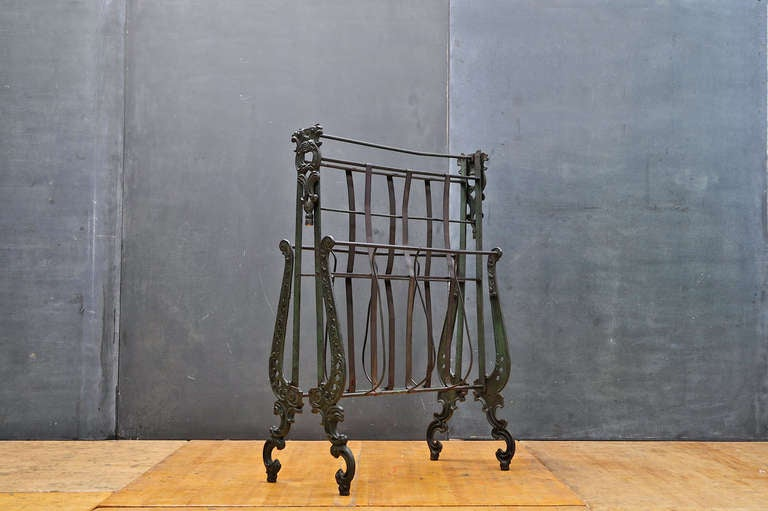 Victorian Cast Iron Ornate Campaign Daybed Sofa Chaise At